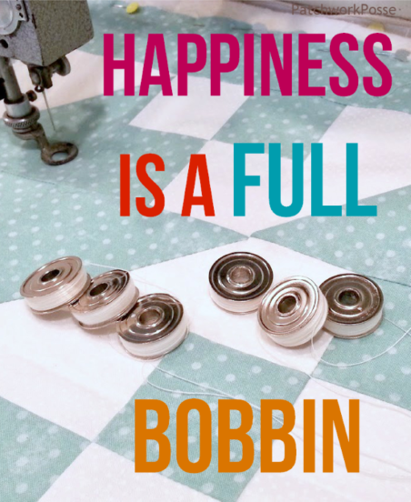 Happiness is a full bobbin.