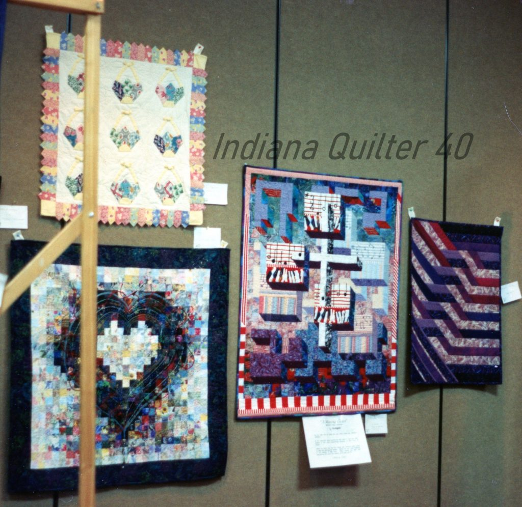 MEMORIES OF A QUILT SHOW IN BILLINGS, MT - 4 small quilts.