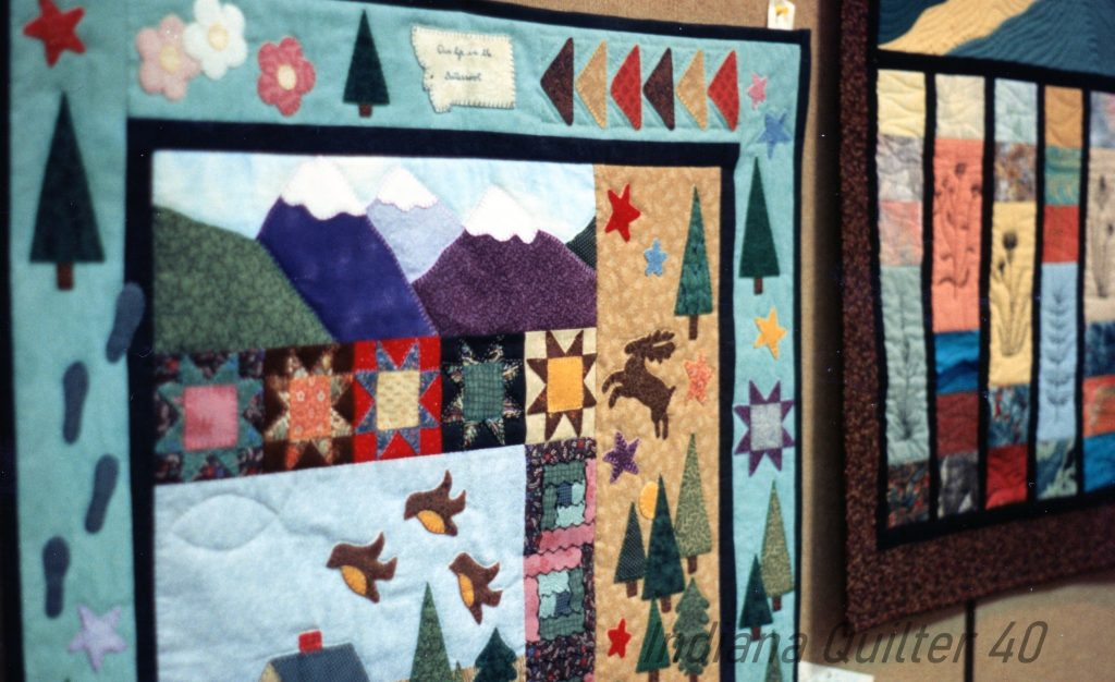 Unique row quilts at the Billings, MT show.