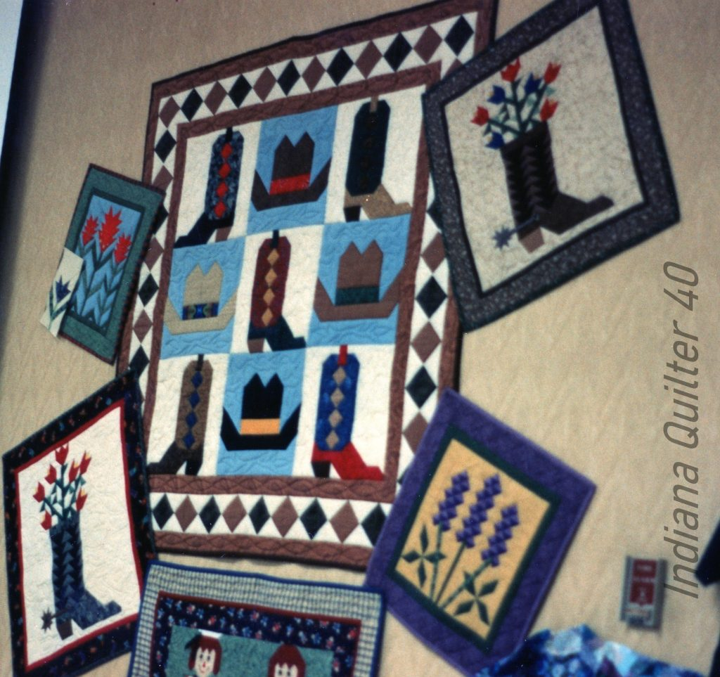 Cowboy inspired quilts at Billings, MT quilt show.