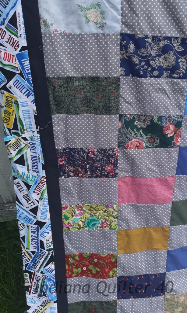 Border area of this quilt.
