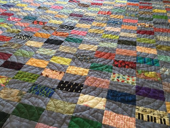 Inspiration from Pintrest for Scrap Rectangle Party quilt
