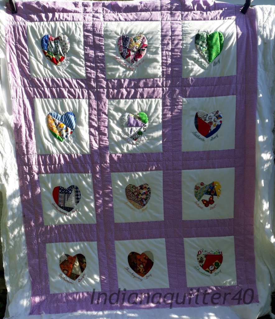 Hand quilting during COVID.