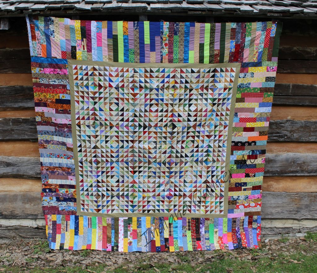 Quarantine quilt top: Scrap Bonanza #1.