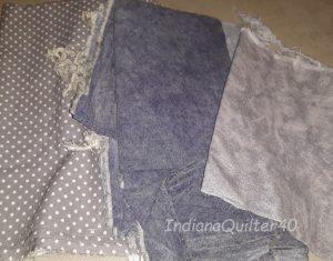 Gray fabrics.