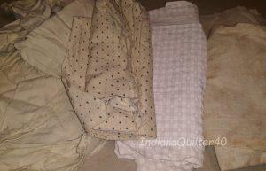 Neutral fabrics.
