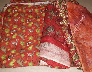 Red-orange fabrics.
