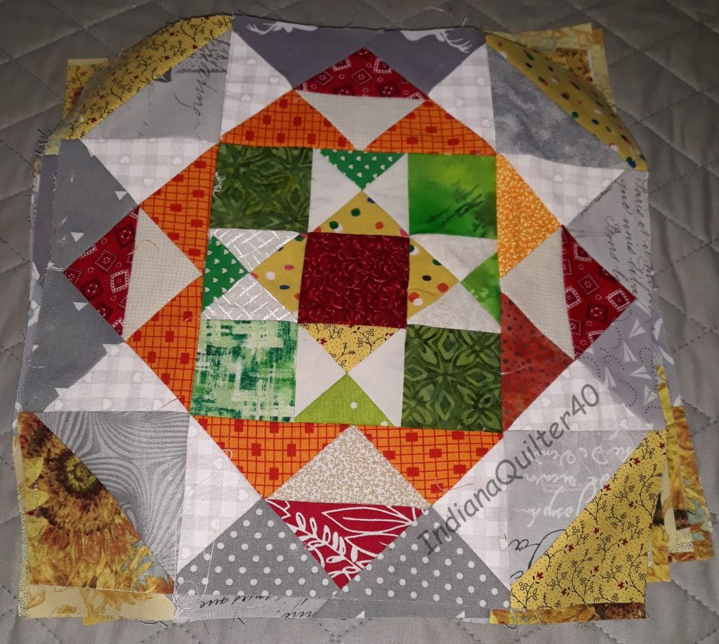 Main blocks of mystery quilt.