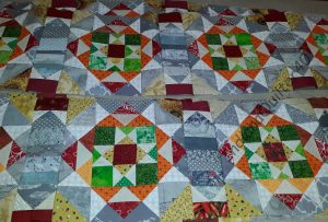 Mystery quilt rows