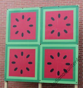 Watermelon barn quilt
