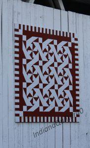 Barn quilt on side of Wheeling Covered Bridge