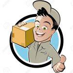 UPS man with box