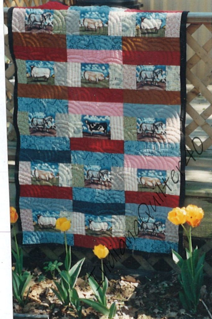 Barnyard quilt completed.