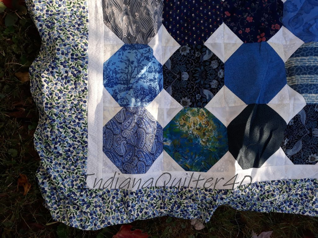 My Blueberry Day quilt  with borders