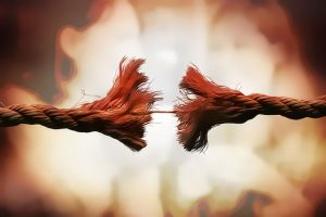 Rope pulling apart